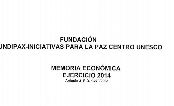 Memoria Económica 2014