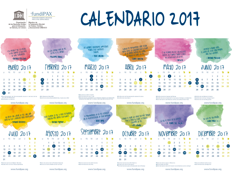 Calendario FUNDIPAX